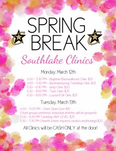Spring Break Clinics